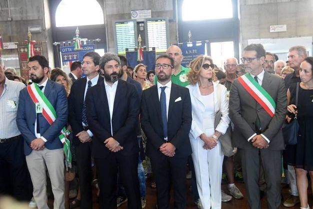 Le autorità in stazione (FotoSchicchi)