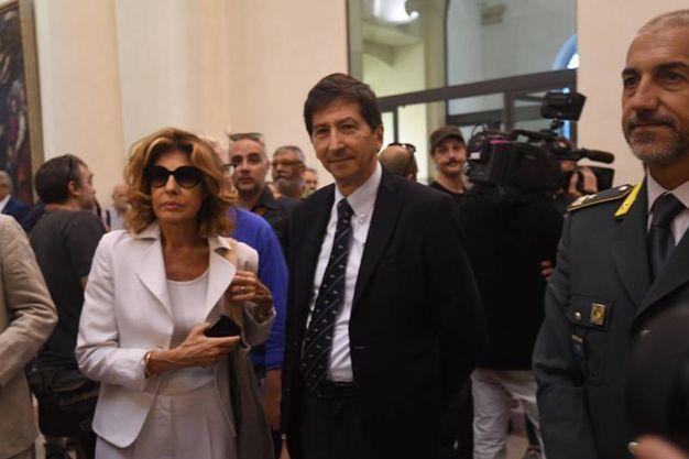 Il prefetto di Bologna, Patrizia Impresa e il questore Gianfranco Barnabei in Comune (Foto Schicchi)