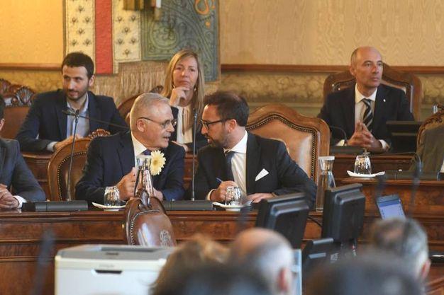 Paolo Bolognesi e il minsitro Alfonso Bonafede (Foto Schicchi)
