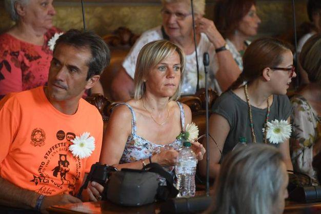 I familiari delle vittime della strage (Foto Schicchi)