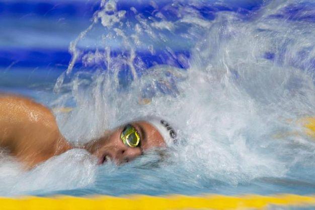 Gregorio Paltrinieri, campione olimpico e mondiale in carica dei 1500 m stile libero (foto Ansa)