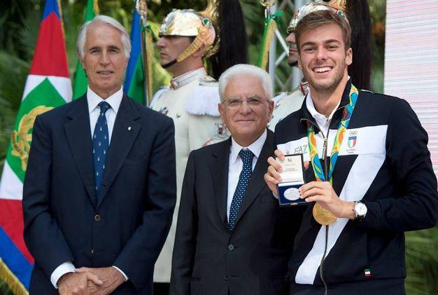Il Presidente Mattarella riceve gli atleti olimpici e paralipmpici di Rio 2016 (foto LaPresse)