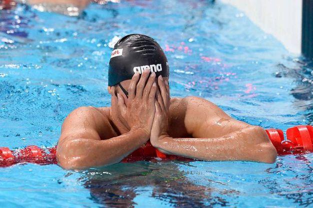 La vittoria della medaglia d'oro ai Campionati del mondo FINA 2015 in Kazan (foto LaPresse)