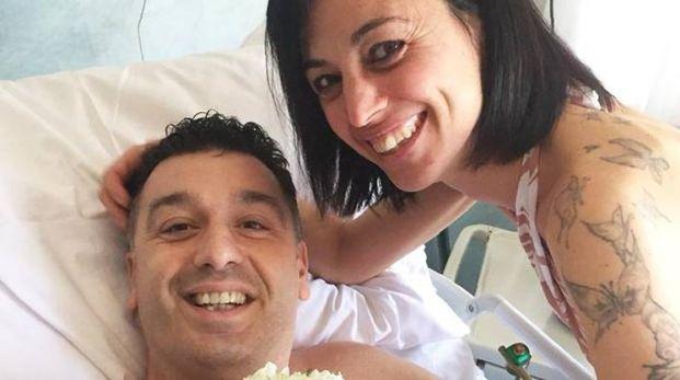 AMORE Nicola Guadalupi e Valentina Colombini si sono sposati ieri all'ospedale Santa Chiara di Pisa