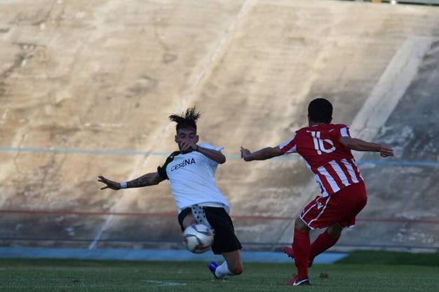 Il gol di Sabbioni (Foto Fantini)