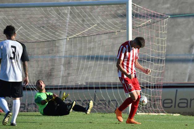 Esultanza per il gol di Cortesi (Foto Fantini)