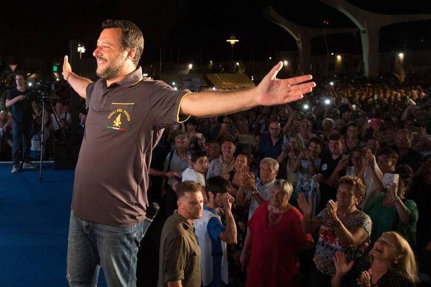 """Matteo Salvini alla festa della Lega a Cervia fa il pieno: """"Tirerò dritto fino alla fine"""" (Foto Zani)"""