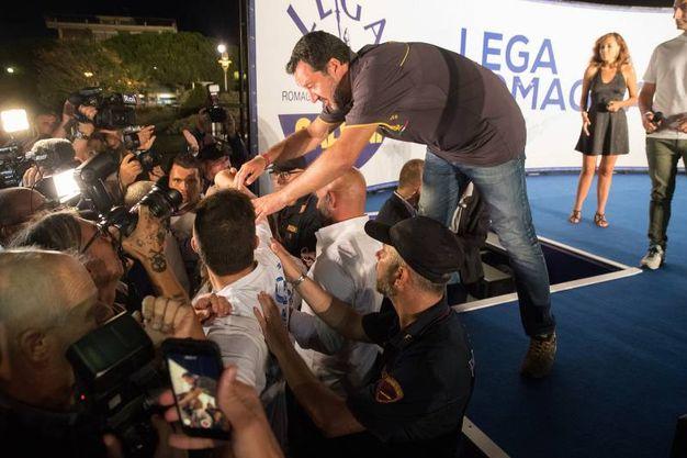 Oltre tremila le persone accorse per la festa della Lega Romagna ma soprattutto per lui, Matteo Salvini (Foto Zani)