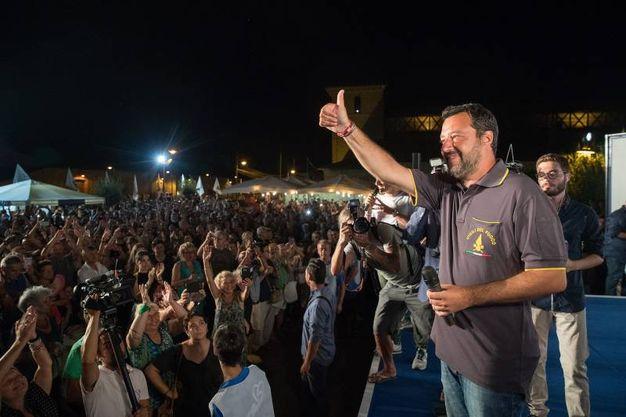 Nel cuore dell'Emilia Romagna, la regione rossa è andata in scena la conquista a colpi di bordate firmate Matteo Salvini (Foto Zani)