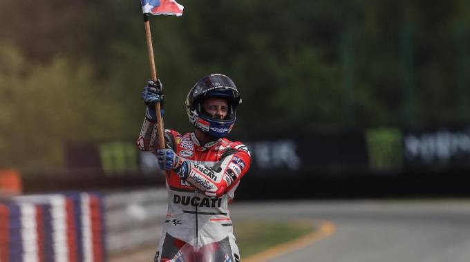 Motogp Brno, trionfa Andrea Dovizioso (Ansa)