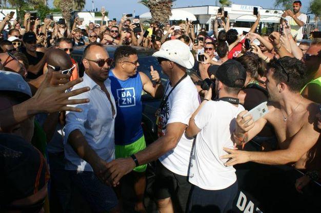 La folla accoglie Ronaldo (foto Monachesi)
