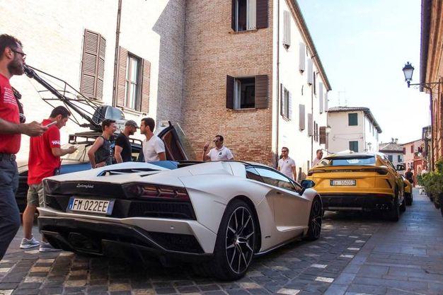 Le riprese dello spot a Santarcangelo (foto Petrangeli)