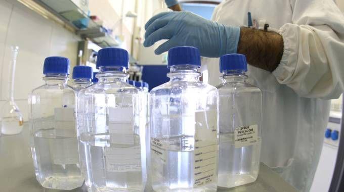 Nei laboratori si analizzano i campioni