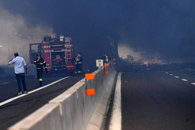 Autostrada chiusa (foto Schicchi)