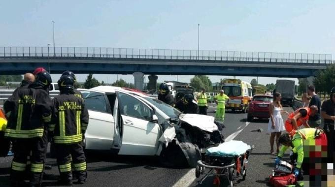 L'incidente mortale in Veneto