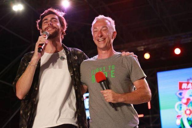 Alvaro Sler a Riccione con Pasquale Di Molfetta, in arte Linus