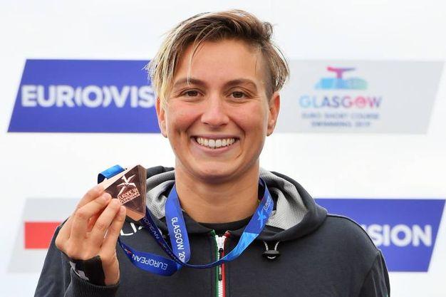 Rachele Bruni, medaglia di bronzo nella 5 km in acque libere (Lapresse)