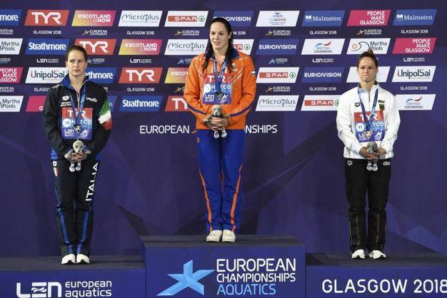 La medaglia di bronzo di Noemi Batki (Ansa)