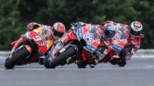 MotoGp, in pista Dovizioso, Marquez e Lorenzo (Ansa)