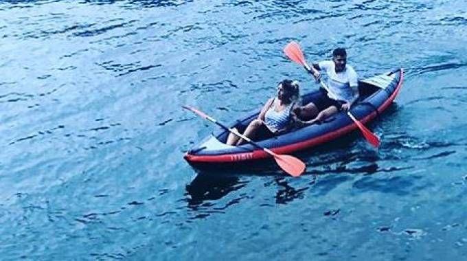 Wanda Nara e Mauro Icardi sul lago di Como