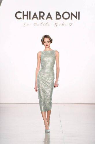 Abito collezione prossimo inverno, Chiara Boni, La Petite Robe in passerella a New York