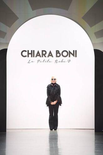 Chiara Boni in passerella a New York lo scorso febbraio