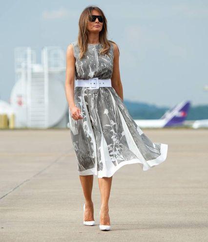 La first lady all'aeroporto di Nashville (LaPresse)