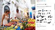 Jennifer Lopez e il fidanzato tra i banchi di frutta a Capri (Instagram)