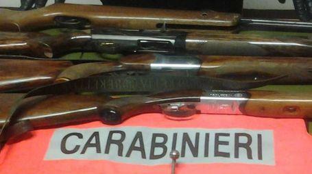 I fucili sequestrati