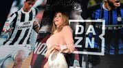 Diletta Leotta alla presentazione della piattaforma Dazn (Foto Ansa)