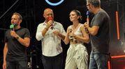 Francesca Michielin con Rudi Zerbi e Andrea & Michele  (Foto Concolino)