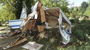 Un camping distrutto a Saint-Julien de  Peyrolas (Ansa)