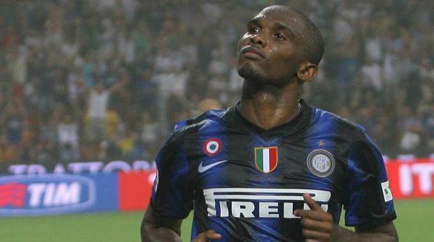 Samuel Eto'o ai tempi dell'Inter