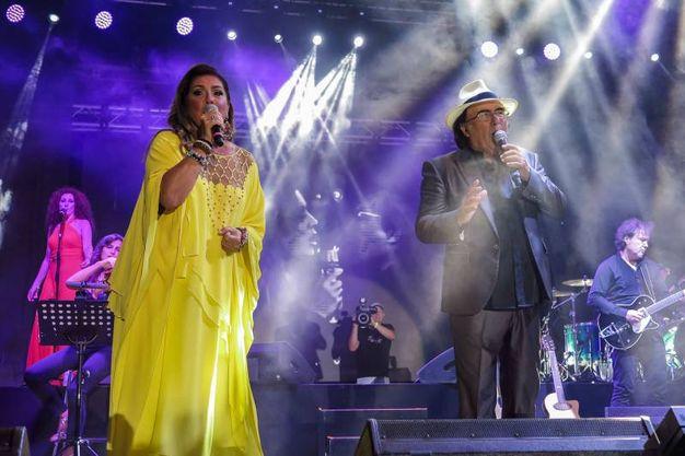 Il grande concerto di Al Bano e Romina  in piazzale Fellini (foto Petrangeli)