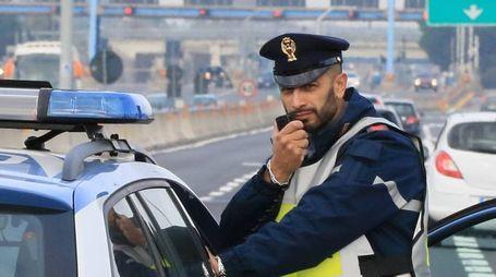 Polizia in autostrada