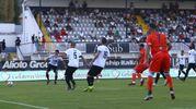 Il gol di Petagna (foto Businesspress)