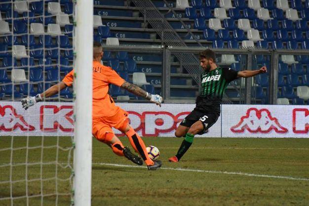 Il gol di Berardi (Fiocchi)