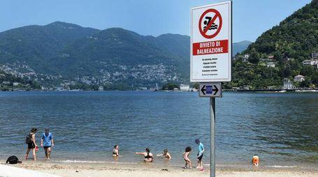 Divieto balneazione nel lago di Como