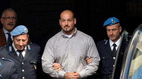 Luca Traini, 29 anni, in tribunale per il processo in corte d'assise
