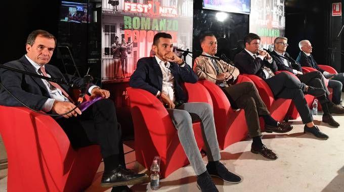 Un dibattito a una Festa dell'Unità dell'anno scorso