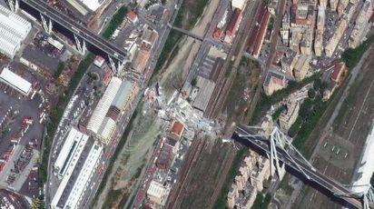 Genova, le foto del disastro dal satellite
