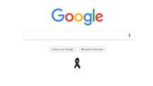 La home di Google Italia in ricordo delle vittime