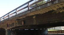 Il viadotto Kennedy, visibilmente deteriorato