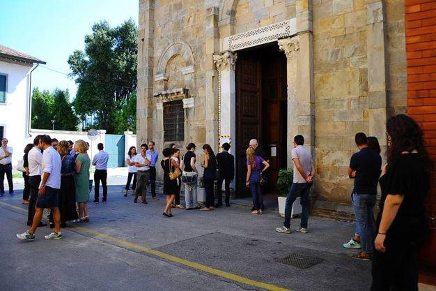 Il funerale di Alberto e Marta a Pisa (foto Roberto Cappello/Valtriani)
