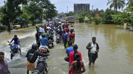Alluvioni in Kerala (Ansa)
