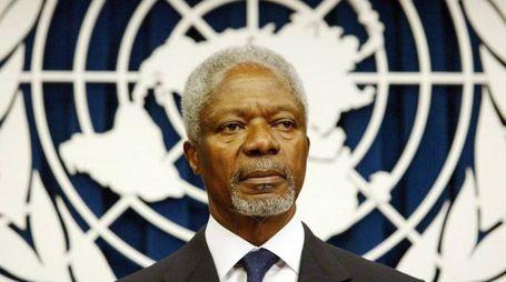 Kofi Annan, ex segretario dell'Onu (Ansa)