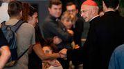 Il cardinale di Genova, Angelo Bagnasco, (LaPresse)