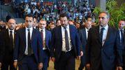 Luigi Di Maio e Matteo Salvini ai funerali (LaPresse)