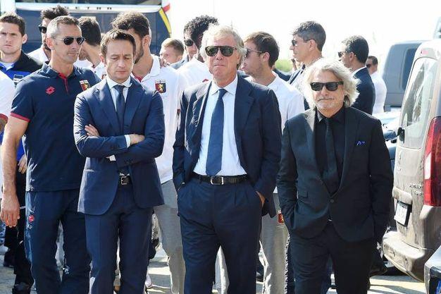 I presidenti di Genova e Sampdoria, Enrico Preziosi e Massimo Ferrero (LaPresse)