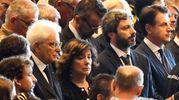 Mattarella assieme al presidente della Camera, Roberto Fico (LaPresse)